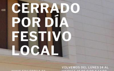 11/09 CERRADO POR FESTIVO LOCAL