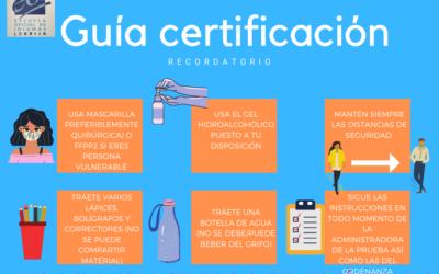 RECORDATORIO PRUEBAS DE CERTIFICACIÓN